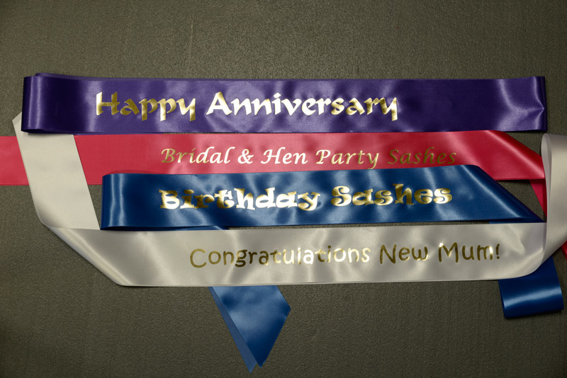 Sashes for all occasions