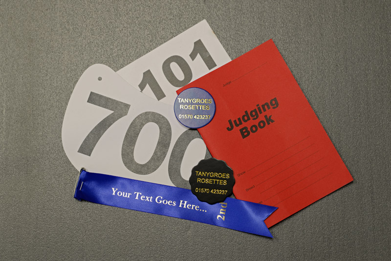 Sundries - Badges, Judges books, Prize ribbons...